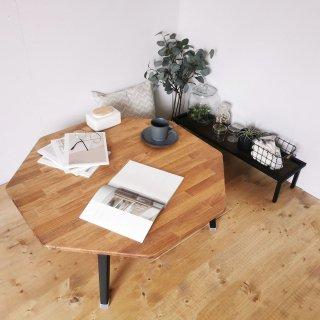 ハチカク 折りたたみローテーブル 90cm 送料無料