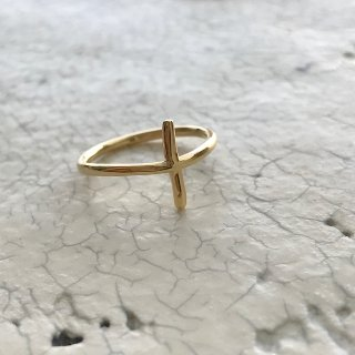 K18YG cross ring