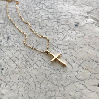 K18YG cross necklace