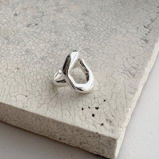 circle ring † silver