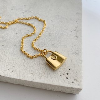 padlock necklace † gold
