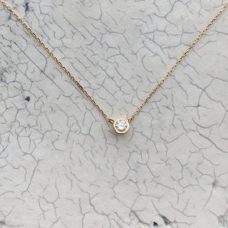 K18YG mini teacup diamond † necklace