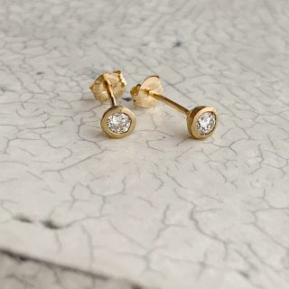 K18YG mini teacup diamond † pierce
