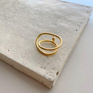 single loop pierce/earring  † gold