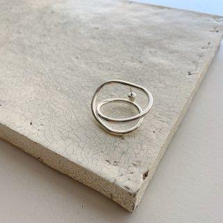 single loop pierce/earring  † silver