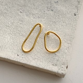 combination pierce/earring  † gold