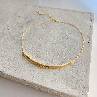 big smile necklace  † gold