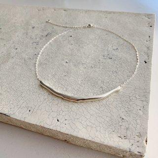 big smile necklace  † silver
