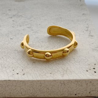 wonky ball bangle † gold