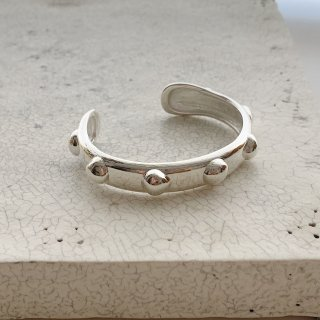 wonky ball bangle † silver