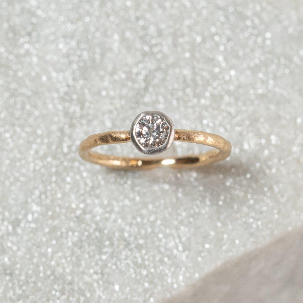 K18arm classy combination ring