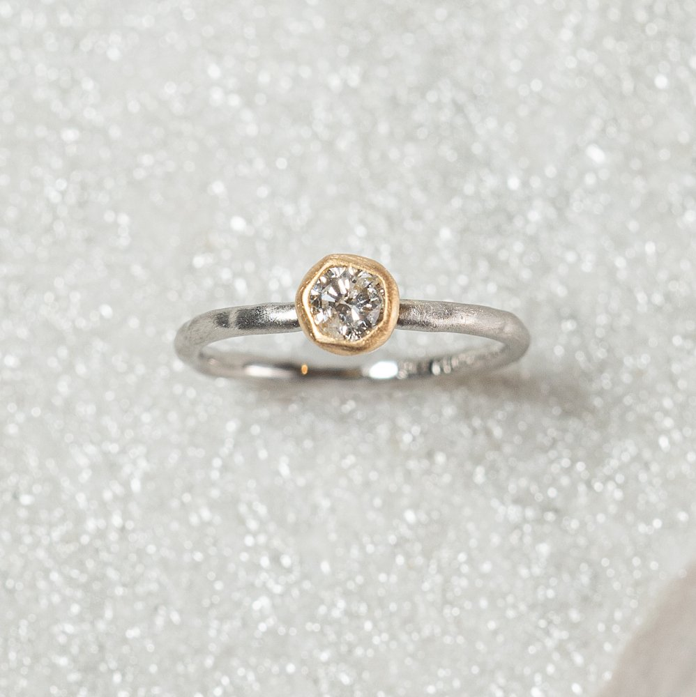 N°6  PTarm classy combination ring 0.3ct