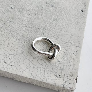 knot ring † silver