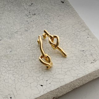 knot pierce/earring † gold