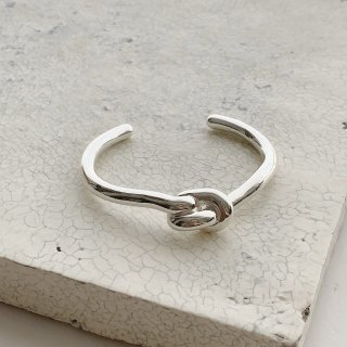 knot bangle † silver