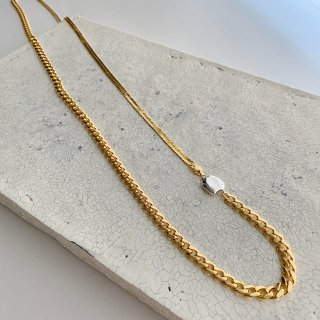 long combination necklace † gold