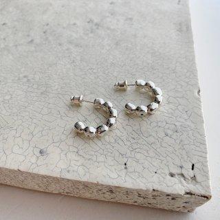 kotama brass foop (pierce/earring) † silver