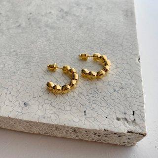 kotama brass foop (pierce/earring) † gold