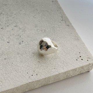 egg ring † silver