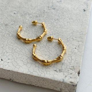 bamboo pierce/earring † gold