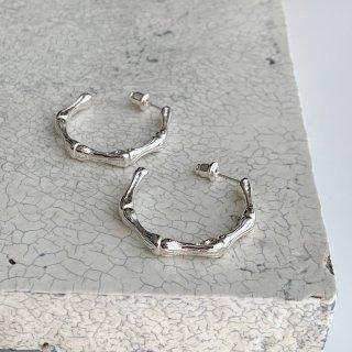 bamboo pierce/earring † silver