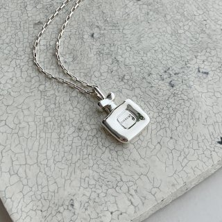 perfume bottle necklace † silver