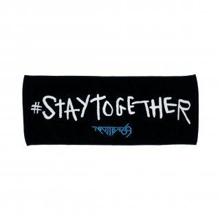 #STAYTOGETHER FACE TOWEL (BLACK)