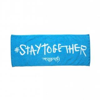 #STAYTOGETHER FACE TOWEL (LIGHT BLUE)