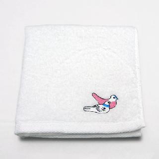刺繍タオル(鳩笛)