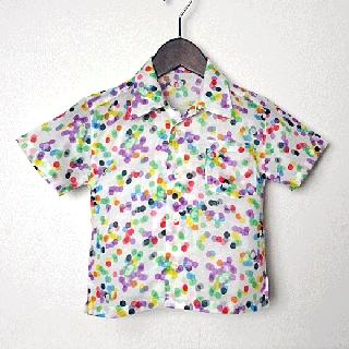 子供用シャツ90(水玉)