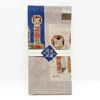 ハンカチ(武井武雄 愛蔵こけし図譜)