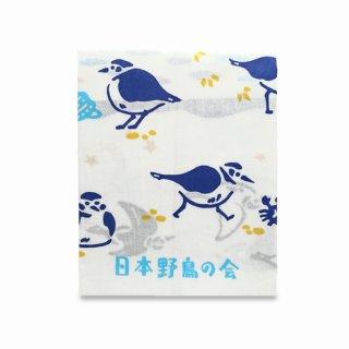 日本野鳥の会×夜長堂 tori-tomo手ぬぐい(白千鳥)
