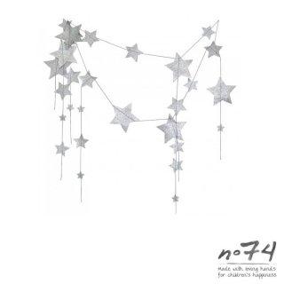 【numero74 / ヌメロ74 】FALLING STAR GARLAND SILVER