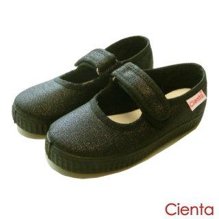 CIENTA(シエンタ) ストラップシューズ/BLACK LAME ブラックラメ 14-21cm