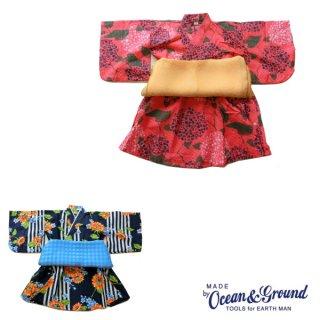 【20%OFF】《OCEAN&GROUND/オーシャンアンドグラウンド》キッズ 浴衣ワンピース HIMAWARI&AJISAI