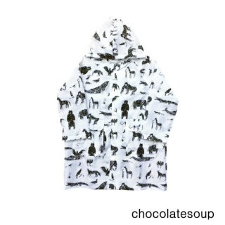 【chocolatesoup チョコレートスープ】GEOMETRY RAINCOAT ANIMAL 100.110.120cm