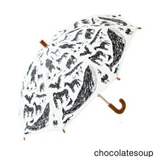 【chocolatesoup チョコレートスープ】GEOMETRY UMBRELLA ANIMAL 45.50cm