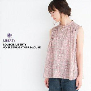 solbois/ ソルボワ  LIBERTY ギャザー ブラウス SLEEPING ROSE FREE/160cm 【日本製】