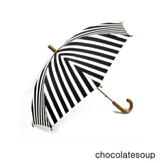 【chocolatesoup チョコレートスープ】GEOMETRY UMBRELLA BORDER柄 おとな用 60cm