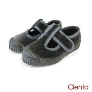 CIENTA (シエンタ )  ベロア デッキシューズ GRIS PLOMO grey velour  14cm 15cm 16cm 17cm 18cm 19cm