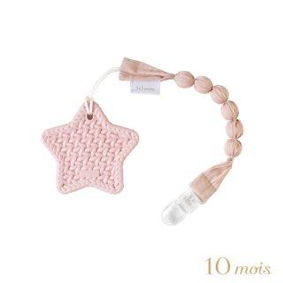 TEETHER 歯がため スター ホルダー付き ピンク 10mois(ディモワ)