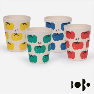 《BOBO CHOSES ボボショセス》 バンブーカップ4個セットTomatoes Pack of Bamboo Glasses