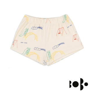 BOBO CHOSES ボボショセス  Playground All Over Terry Fleece Shorts  12-18M 24-36M