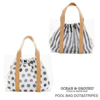 OCEAN&GROUND オーシャンアンドグラウンド    DOT&STRIPES プールバッグ