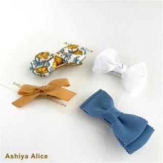 Ashiya Alice 芦屋アリス libertyヘアピンセット MUSTARD 4個セット 【他の商品含め2点以上お買い上げで送料無料】