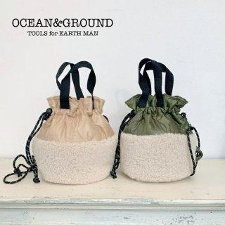 OCEAN&GROUND オーシャンアンドグラウンド ボア&キルトドッキングBAG 女の子 男の子 ボア キルト 子供用