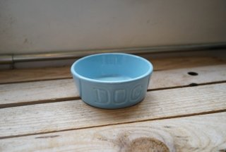 BAUER POTTERY DOGBOWL・パウダーブルー
