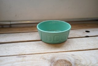 BAUER POTTERY DOGBOWL・ターコイズ