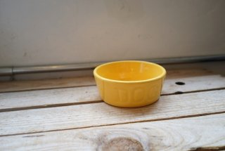 BAUER POTTERY DOGBOWL・イエロー