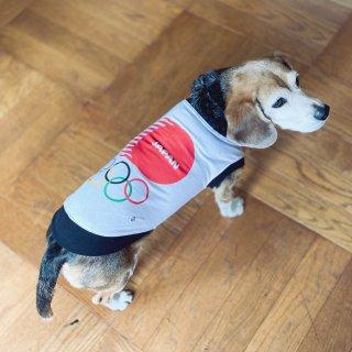 【東京2020公式ライセンス商品】ドッグウェア 東京2020オリンピックエンブレム ホワイト 5号サイズ